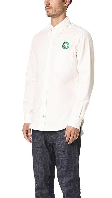 Gitman Vintage Alta White Flannel Shirt