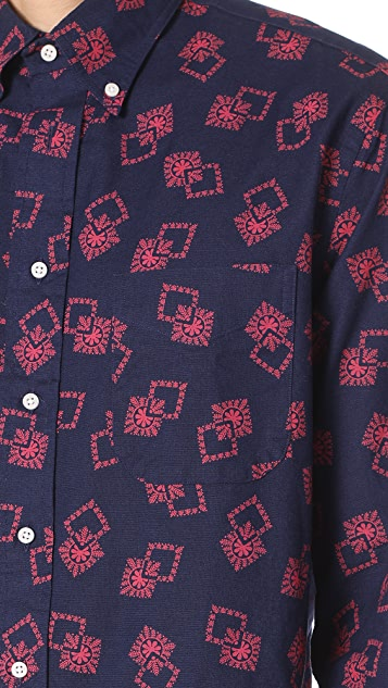 Gitman Vintage Long Sleeve Snowflake Oxford Shirt