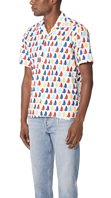 Gitman Vintage Short Sleeve Polar Bears Shirt