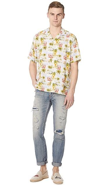 Gitman Vintage Short Sleeve Island Time Shirt
