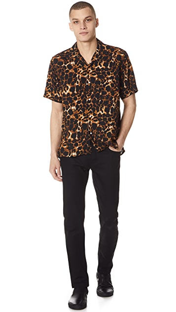 Gitman Vintage Short Sleeve Leopard Camp Shirt