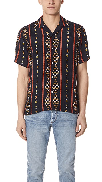 Gitman Vintage Short Sleeve Dark and Stormy Shirt