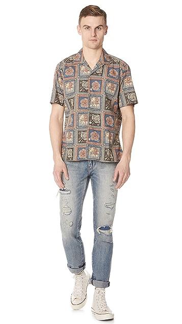 Gitman Vintage Short Sleeve Elephant Shirt