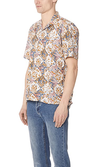 Gitman Vintage Short Sleeve Tile Batik Shirt
