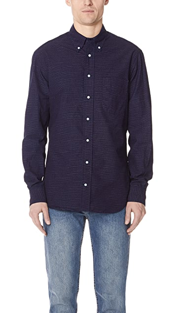 Gitman Vintage Long Sleeve Pin Dot Shirt