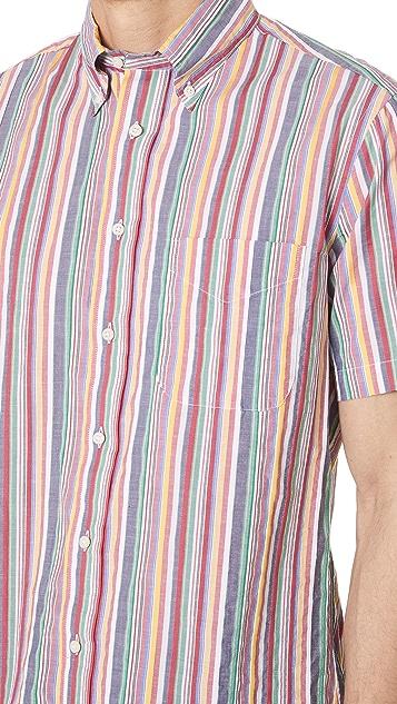 Gitman Vintage Short Sleeve Stripe Shirt