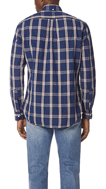 Gitman Vintage Long Sleeve Cotton Line Shirt