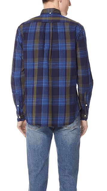 Gitman Vintage Long Sleeve Navy Madras Shirt