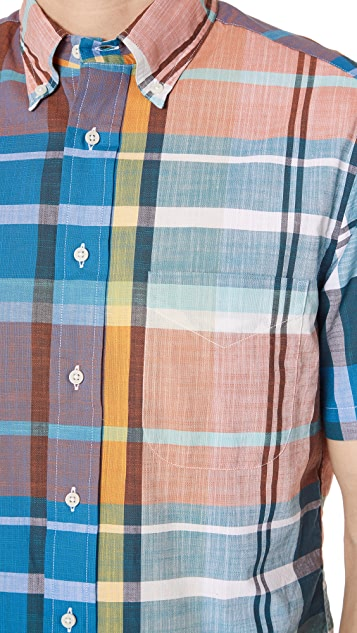 Gitman Vintage Big Teal Madras Shirt