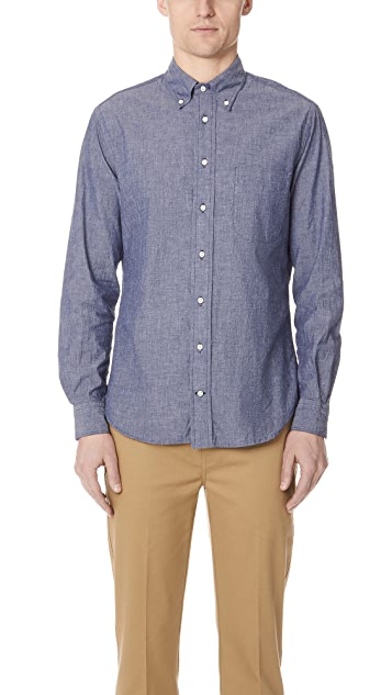 Gitman Vintage Long Sleeve Blue Chambray Shirt