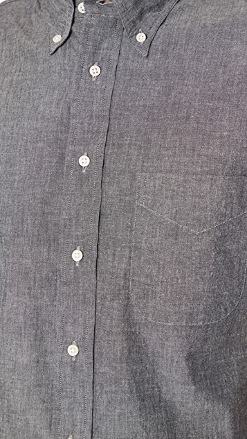 Gitman Vintage Short Sleeve Black Chambray Shirt
