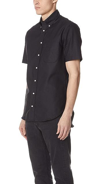 Gitman Vintage Short Sleeve Overdye Oxford Shirt