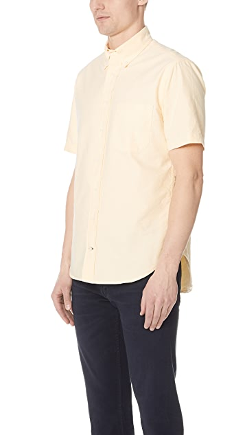 Gitman Vintage Short Sleeve Overdye Oxford Shirt