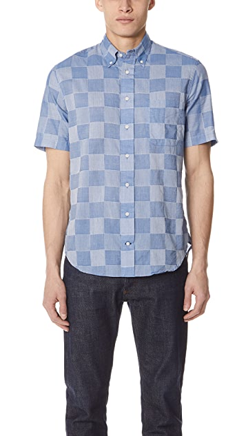 Gitman Vintage Patchwork Shirt with Short Sleeves