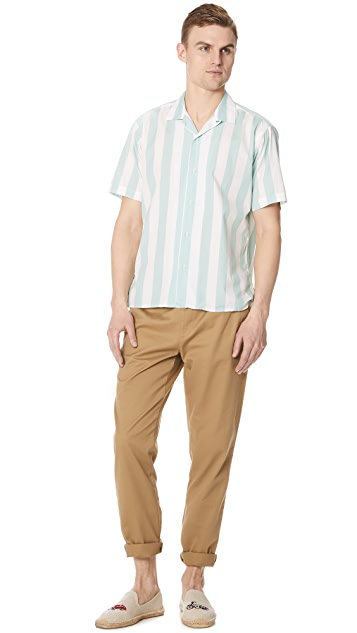 Gitman Vintage Wide Striped Camp Shirt