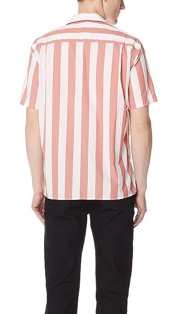 Gitman Vintage Wide Striped Camp Shirt
