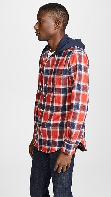 Gitman Vintage Plaid Hoodie Shirt