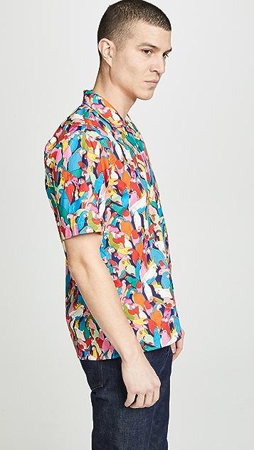 Gitman Vintage BD Parrot Shirt - Camp Collar