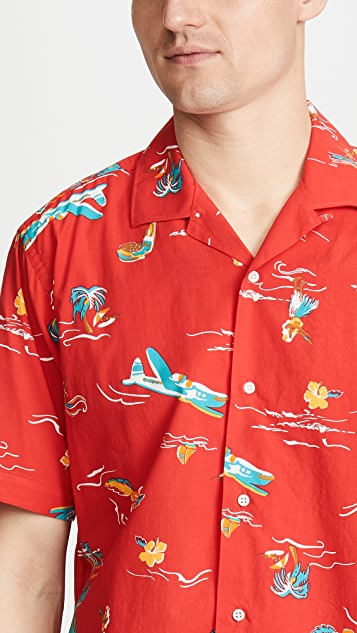 Gitman Vintage Airplane Button Down Shirt