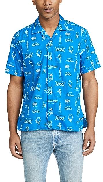Gitman Vintage Camp Collar Button Down Knot Shirt