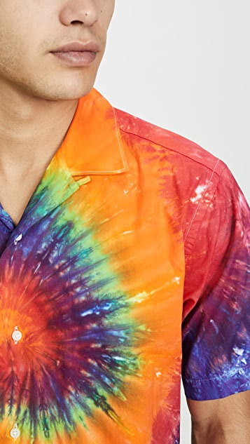 Gitman Vintage Tie Dye Shirt with Camp Collar