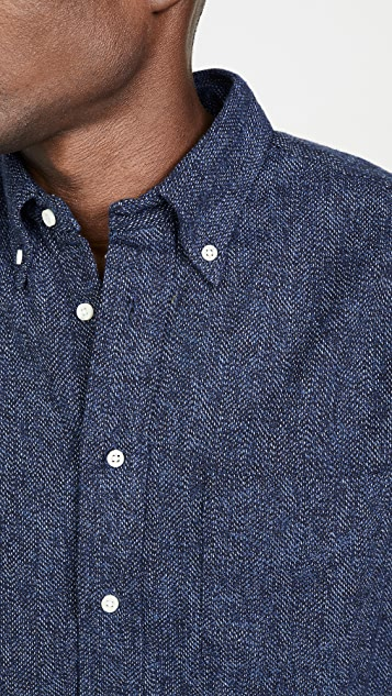 Gitman Vintage Cotton Tweed Button Down Shirt