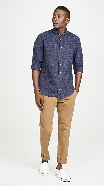 Gitman Vintage Cotton Tweed Button Down Shirt
