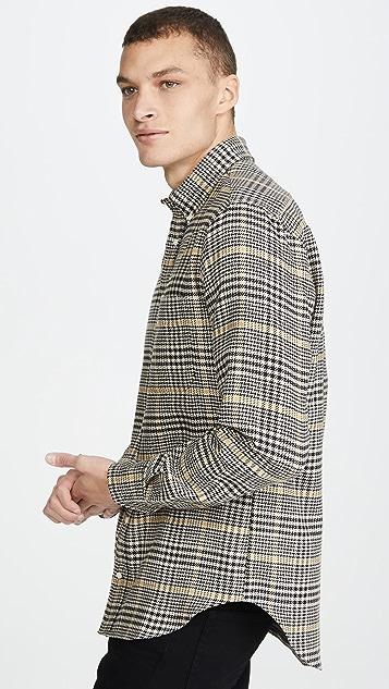 Gitman Vintage Cotton Houndstooth Tweed Button Down Shirt