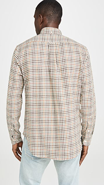 Gitman Vintage Cotton Gingham Button Down Shirt