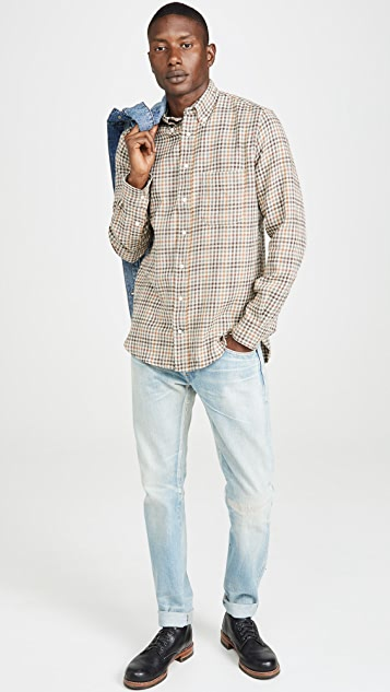 Gitman Vintage Cotton Gingham Button Down Shirt
