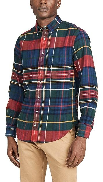 Gitman Vintage Big Check Flannel Button Down Shirt