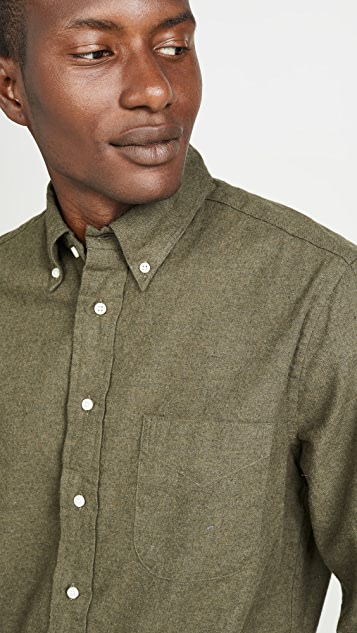 Gitman Vintage Big Check Flannel Button Down Shirt