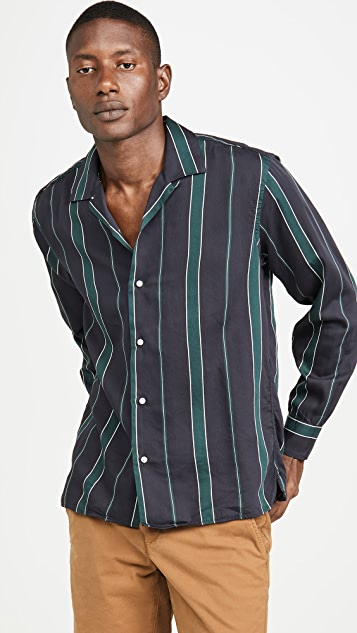 Gitman Vintage Sateen Regimental Stripe Shirt