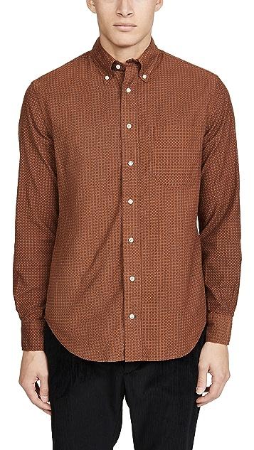 Gitman Vintage Italian Printed Corduroy Button Down Shirt