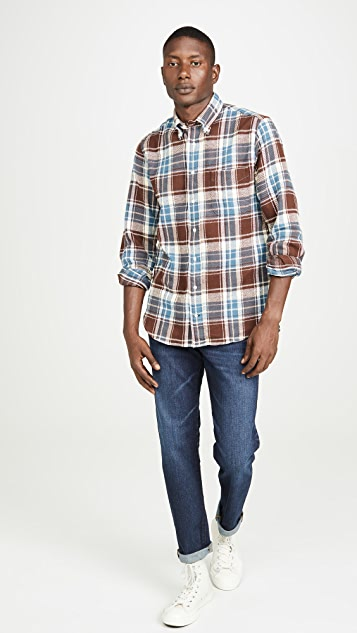 Gitman Vintage Washington Brushed Triple Yarn Flannel Shirt