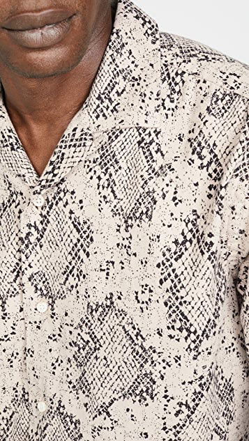 Gitman Vintage Polar Snake Print Shirt Jacket