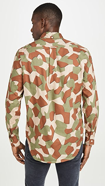 Gitman Vintage Peruvian Geometric Camo Oxford Button Down Shirt