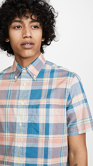 Gitman Vintage Archive Cotton Madras Short Sleeve Shirt