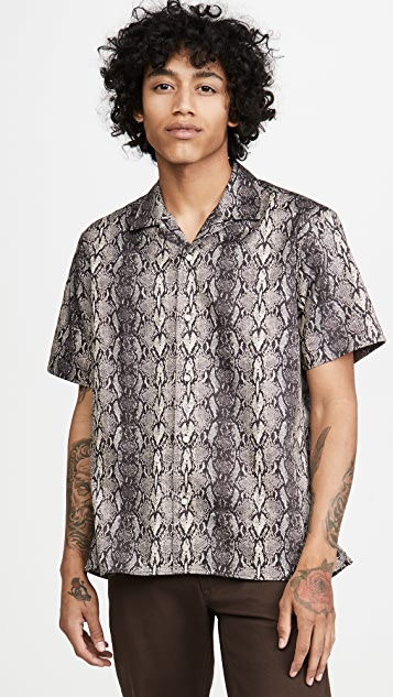 Gitman Vintage Snakeskin Camp Collar Shirt
