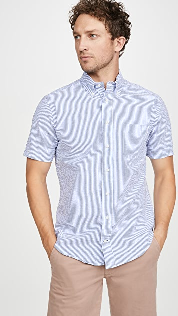 Gitman Vintage Seersucker Short Sleeve Shirt