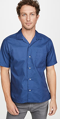 Gitman Vintage - Summer Hopsack Short Sleeve Camp Collar Shirt