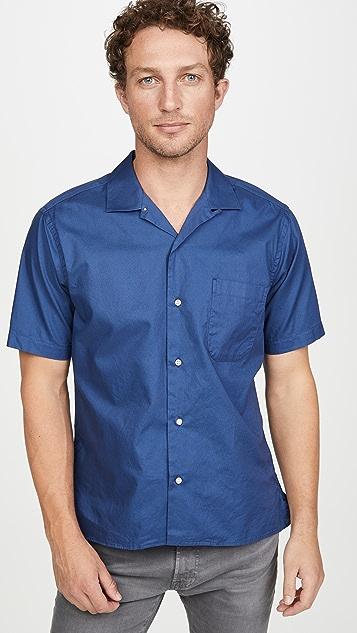 Gitman Vintage Summer Hopsack Short Sleeve Camp Collar Shirt