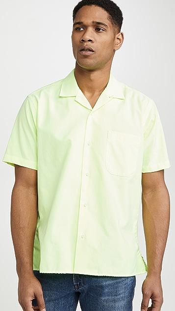Gitman Vintage Neon Oxford Camp Collar Shirt