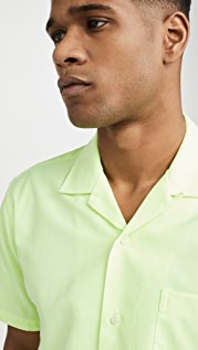 Gitman Vintage Neon Oxford Camp Collar Shirt