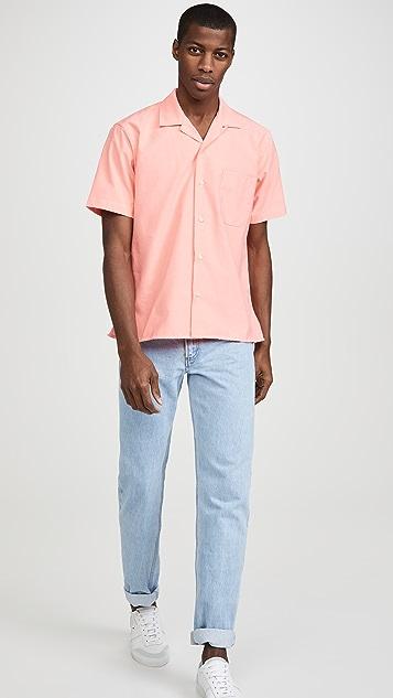 Gitman Vintage Neon Oxford Camp Collar Short Sleeve Shirt