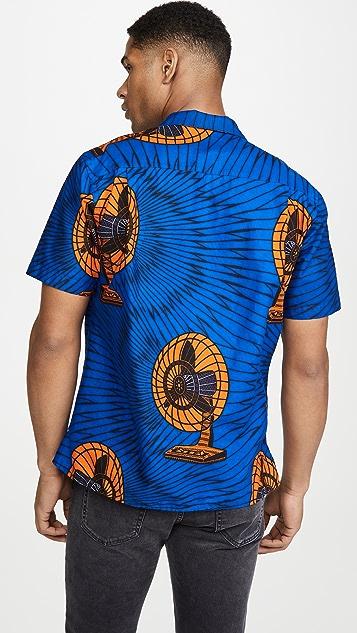 Gitman Vintage Met's Fan Camp Collar Short Sleeve Shirt