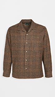 Gitman Vintage Cotton Tweed Check Camp Collar Shirt