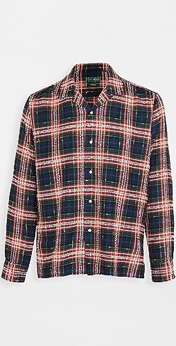 Gitman Vintage - Archive Fluro Plaid Camp Collar Shirt