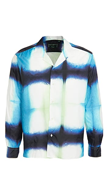 Gitman Vintage Shibori Hand Dyed Ripstop Camp Collar Shirt