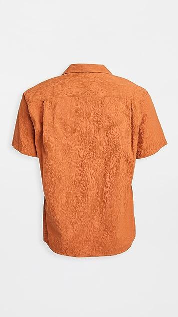 Gitman Vintage Seersucker Shirt with Camp Collar